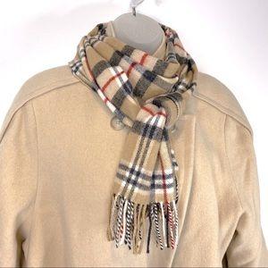 Blarney Merino Wool Irish Plaid Scarf Vintage